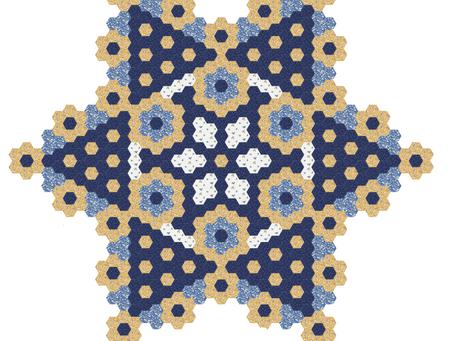 Free Mystery Hexagon Quilt 2021 Part 4