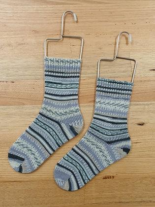 Hand Made Socks  Monte Bianco Charcoal Silver 509 socks please socks by shirl