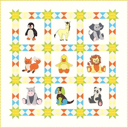 animal applique quilt pattern