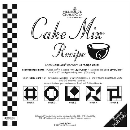 Miss Rosies Cake Mix recipe 6 foundation sheets