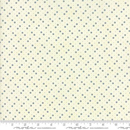 Holly Woods 3 Sisters 44176-21 Blue spots on Cream moda fabrics