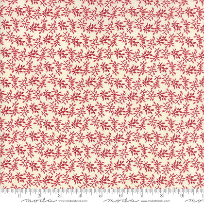 Holly Woods 3 Sisters 44175-22 Red Leaf on Cream moda fabrics