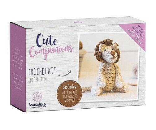 Cute Companions Leo the Lion Crochet Kit Threaders