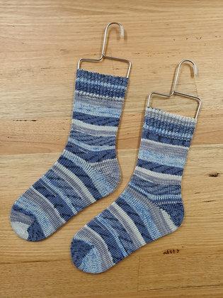 Hand Made Socks Imprim Bleu socks please socks by shirl