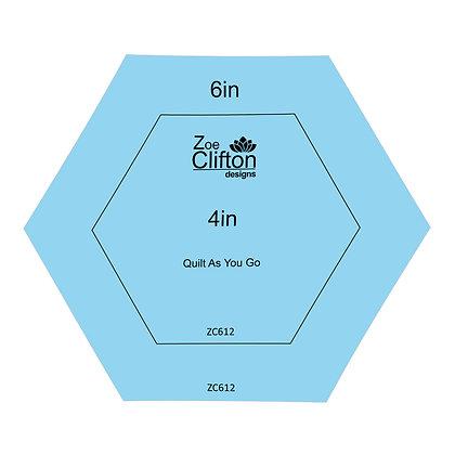 Quilt As You Go Hexagon Templates