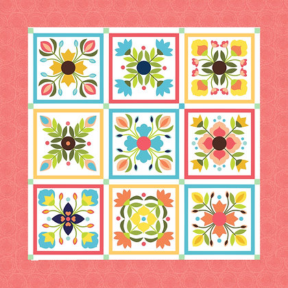 Bella Flower Garden Quilt Kit