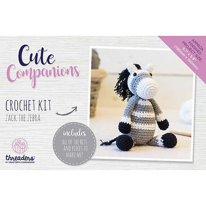Cute Companions Zack the Zebra Crochet Kit Threaders