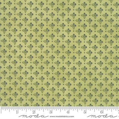 garden notes kathy schmitz 6092-12 moda fabric Floral Gooseberry Fern Green