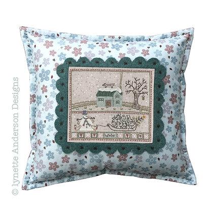 Winter Cushion Stitchery Pattern