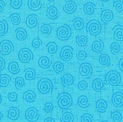 Twister Aqua Wide Back fabric
