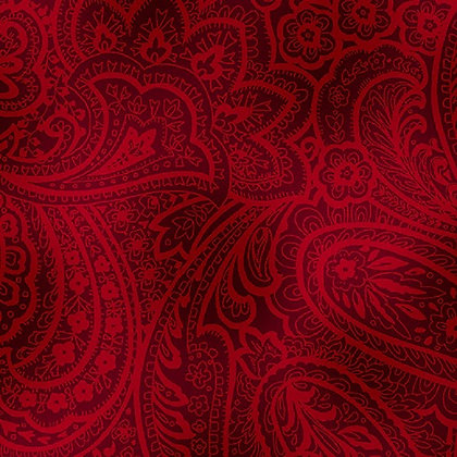Radiant Paisley Brick Red Wide Back