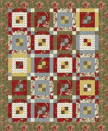 Strippen Around Quilt Pattern