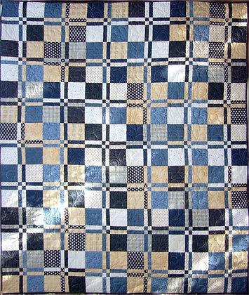 Indigo Crosses Quilt Pattern