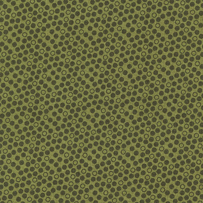 Ditzy Dots Olive  - Quilt Wide Back 108 inches wide