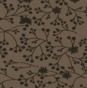 Flutter wide back fabric by SSS brown on beige