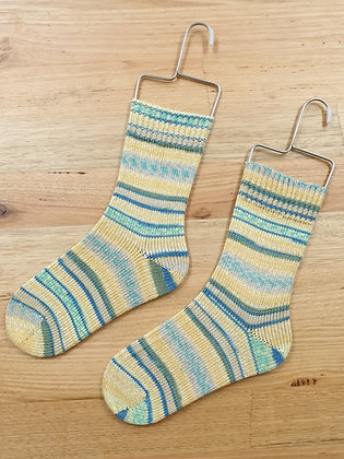 Hand Made Socks Monte Bianco Green/Yellow 506 socks please socks by shirl