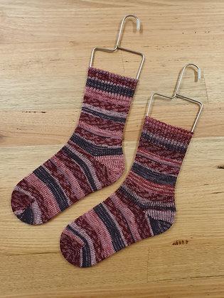 Hand Made Socks Imprim Rose socks please socks by shirl