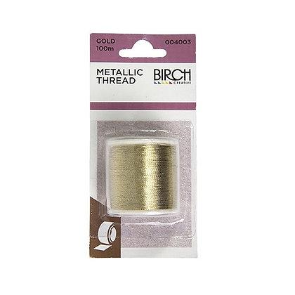 Birch Metallic thread Gold 100m