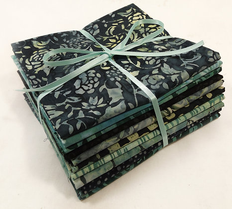 Hoffman Batik Fat Quarter Bundle greens