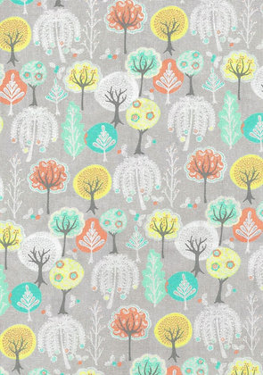 A Spring Burst Grey Flowering Trees quiltweaves 6061H