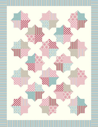cotton forest fabric kit rosalie dekker ella blue