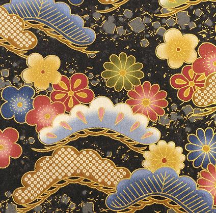 Japanese Floral Garden 9166 Black kennard and kennard