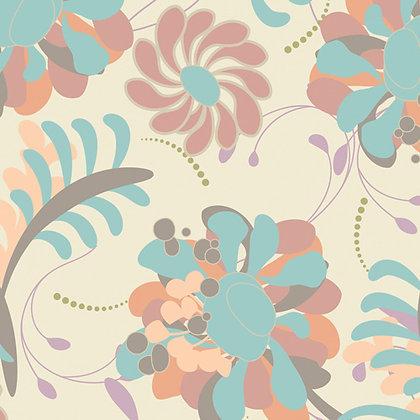 Chic BloomsLush Blossoms Blue-Peach Pat Bravo CB-605