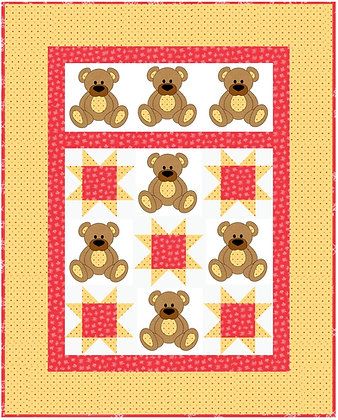 teddy bear applique quilt