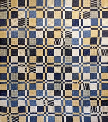 Indigo Crosses Quilt PDF Pattern