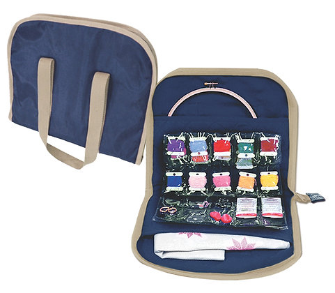 Sew Easy Embroidery Floss Bag Navy