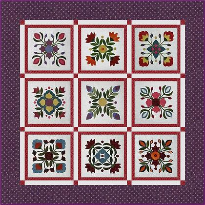 Wool Flower Garden Quilt Pattern