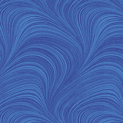 Wave Texture Medium Blue Wide Back