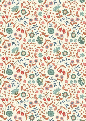 Chieveley Lewis and Irene Country House Floral On Cream 7024-11