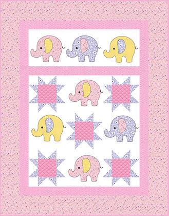 Elephant applique Quilt Kit