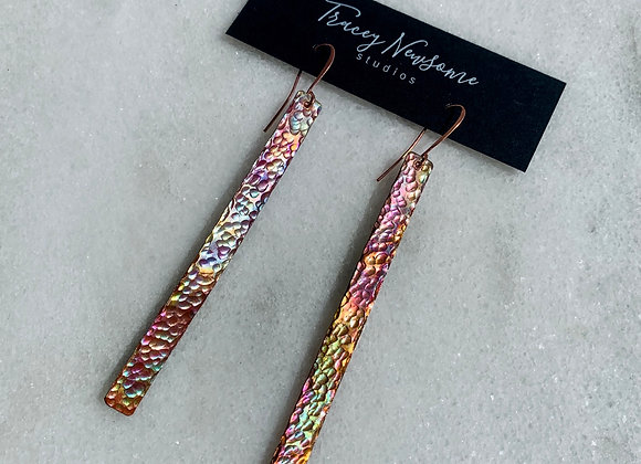 Iridescent Bar Earrings