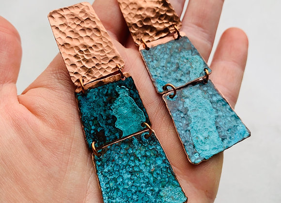Stacked Patina Earrings