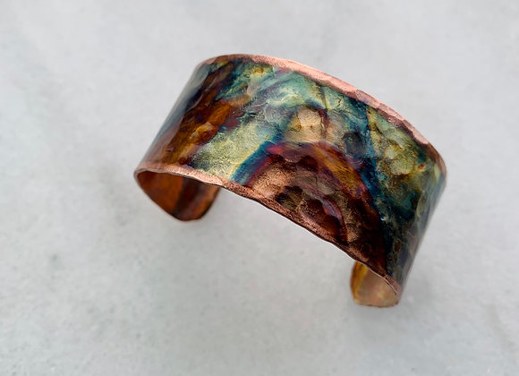 Small Heat Patina Cuff
