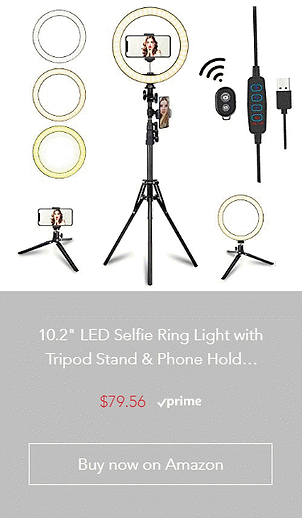 10.2 LED Selfie Ring Light with Tripod S