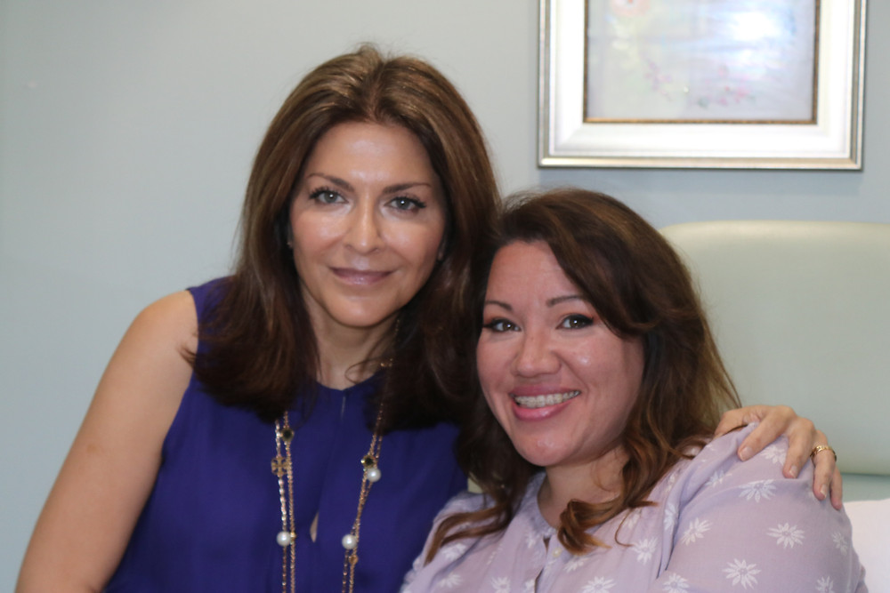 Dr. V and Angela Cruz