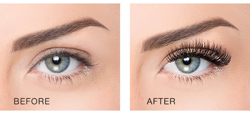 Classic eyelash extensions are applied at a one-to-one ratio — one extension for each mature natural lash.