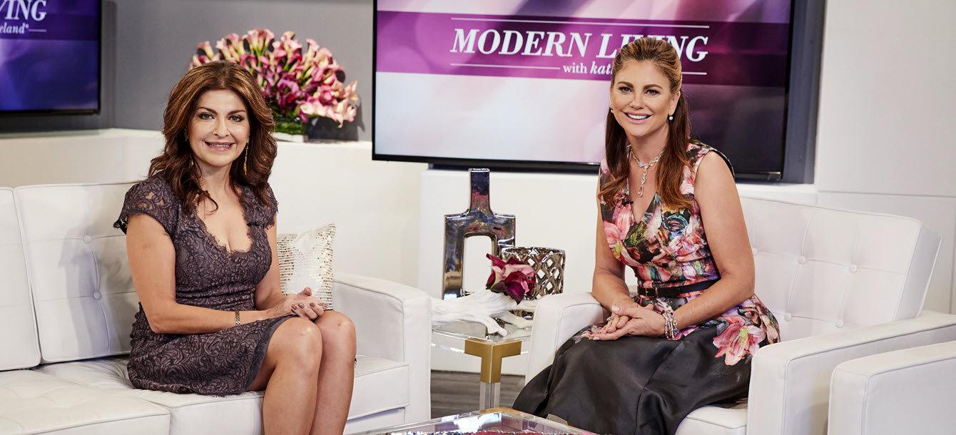 Neda R. Vanden Bosch, MD and Kathy Ireland on set
