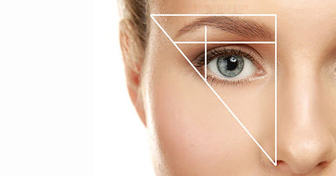 Diagram to help with brow shaping