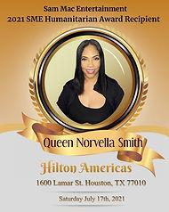 SME Humanitarian Award Queen Norvella Sm