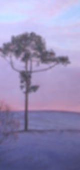 """Purple Parish"", pastel, 10X20 1/4"""
