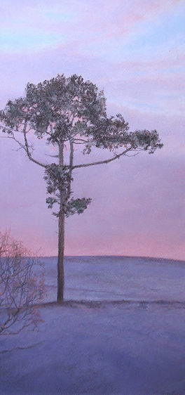 """Purple Parish"", pastel, 10X20 1/4"""