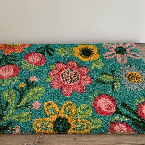 Coir Mat - Floral