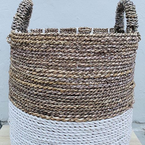 Seagrass Basket Duo White