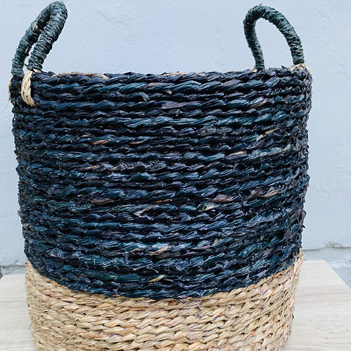 Seagrass Basket Duo Black