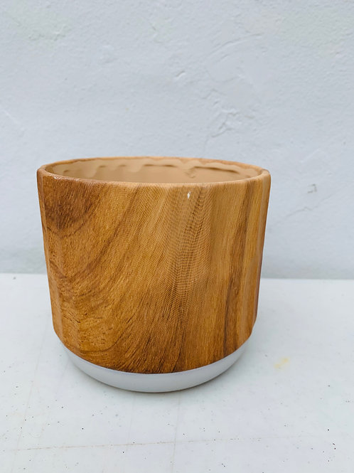 Wood Grain Pot