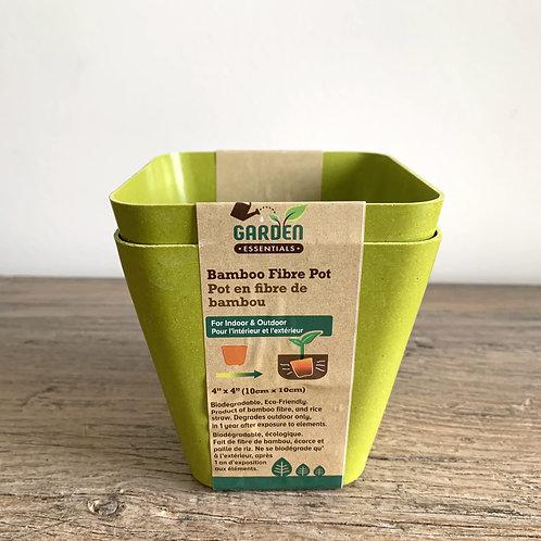 Bamboo Fibre Pot - 2 pk